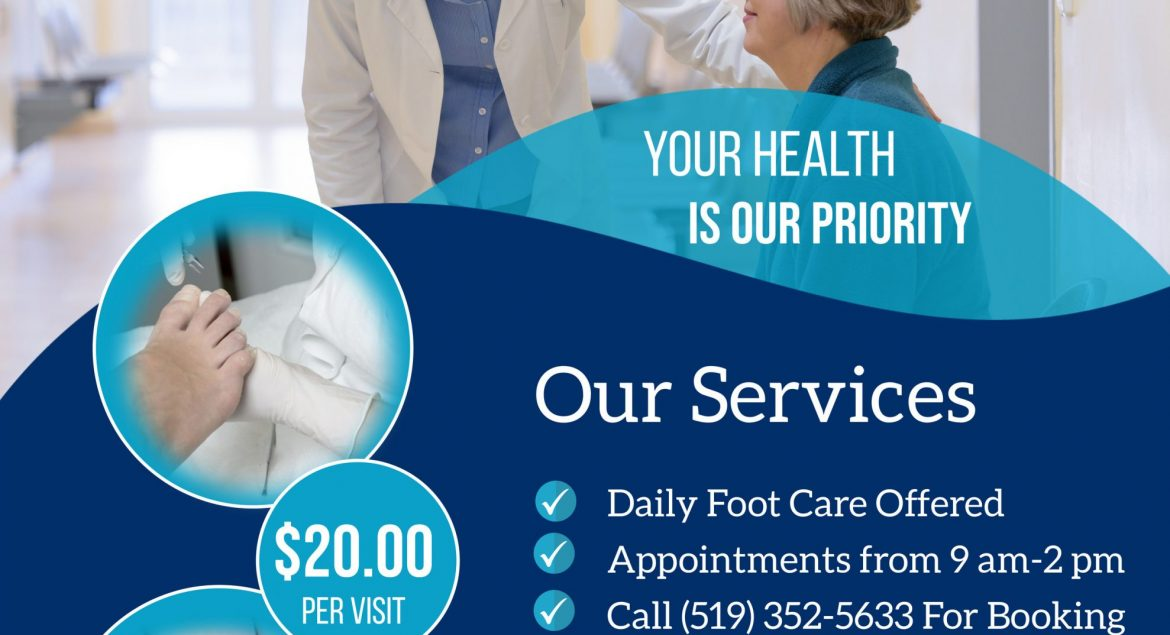 New foot care flyer